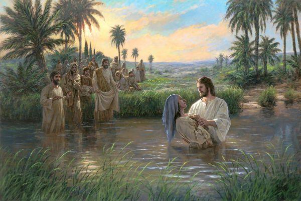 Jesus Baptising Holy Bible