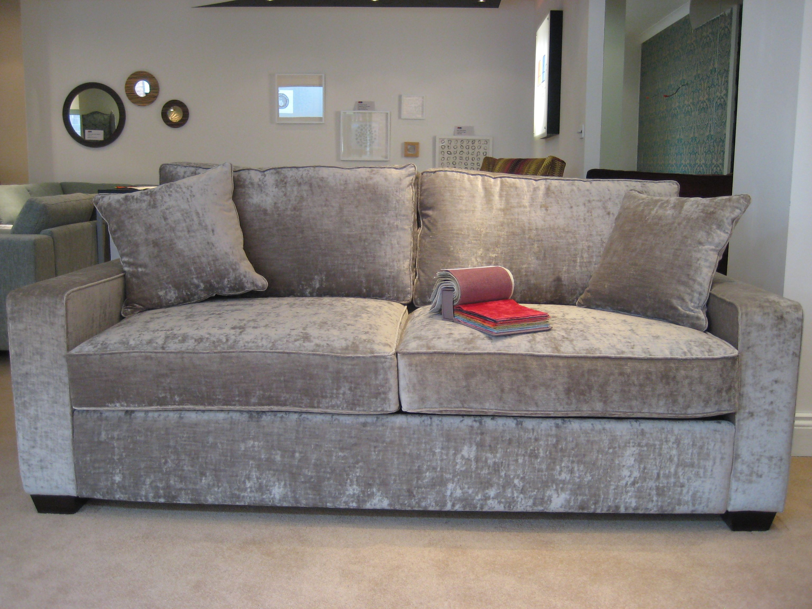 brown vine leather sofa small modern sofas sherwood in j crushed velvet   silver ...