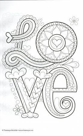 Color Love Coloring Book : Thaneeya McArdle by