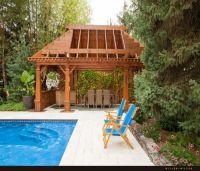 Wooden Deck Pergola for Swimming Pool | Deck pergola ...