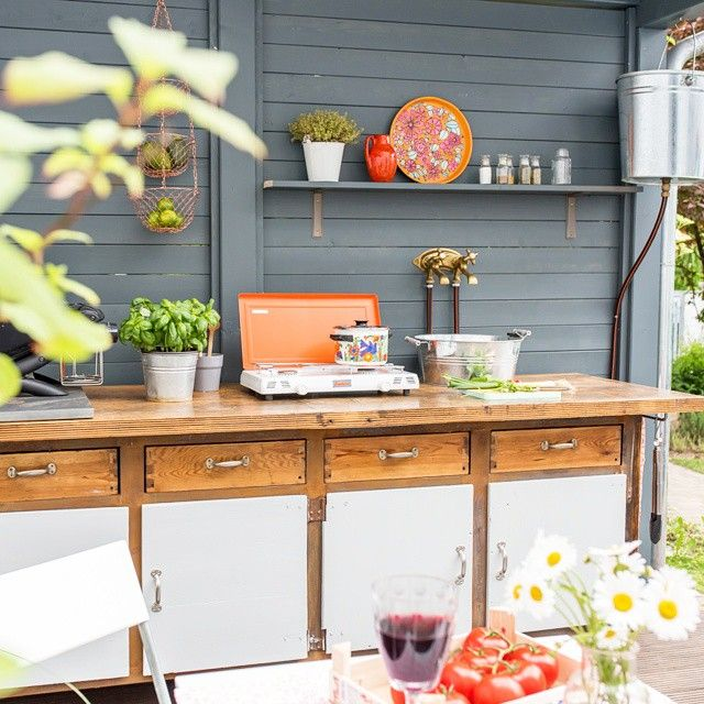 Meine DIY outdoor Küche, ab jetzt leben wir draußen :) # ...
