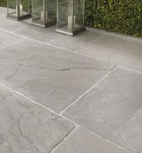 Salcombe Sandstone in a seasoned finish. Patio tiles with ...