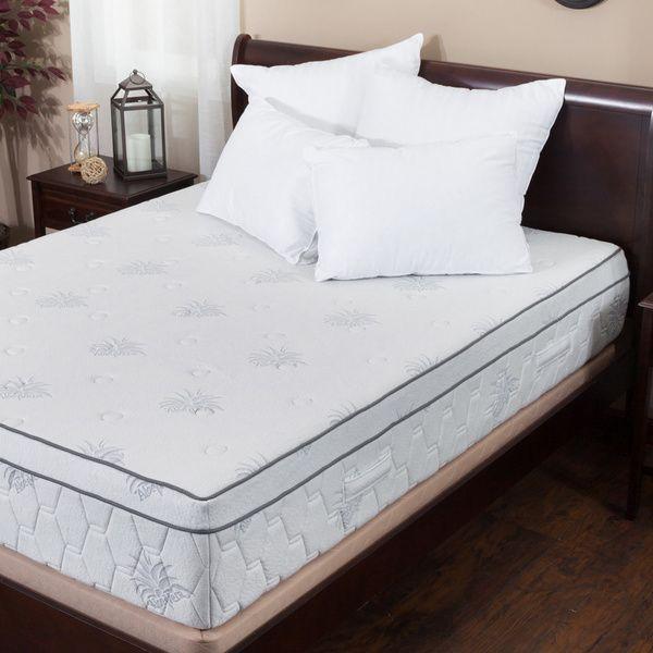 Christopher Knight Home Aloe Gel Memory Foam 13 Inch King Size Pillow Top Mattress