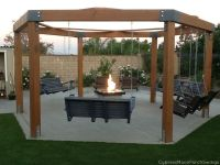 Porch-Swing Fire Pit | Pergolas, Swings and Backyard