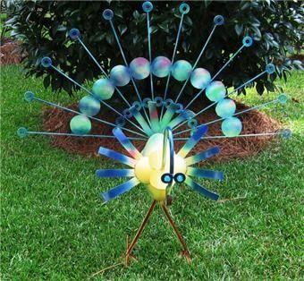 DIY Yard Art Ideas Ideas And DIY Peacock Yard Art Garden
