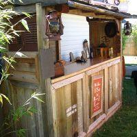 How to Build a Backyard Tiki Bar   Bar plans, Tiki bars ...
