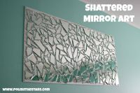 Broken mirror pieced back together.   Craftiness   Pinterest
