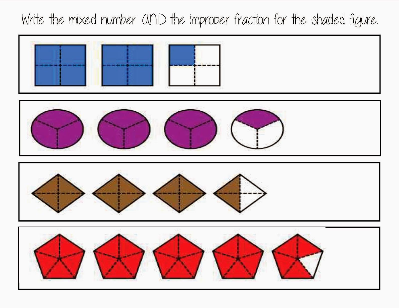 3rd Grade Things Five For Friday Linkup Mixed Numbers