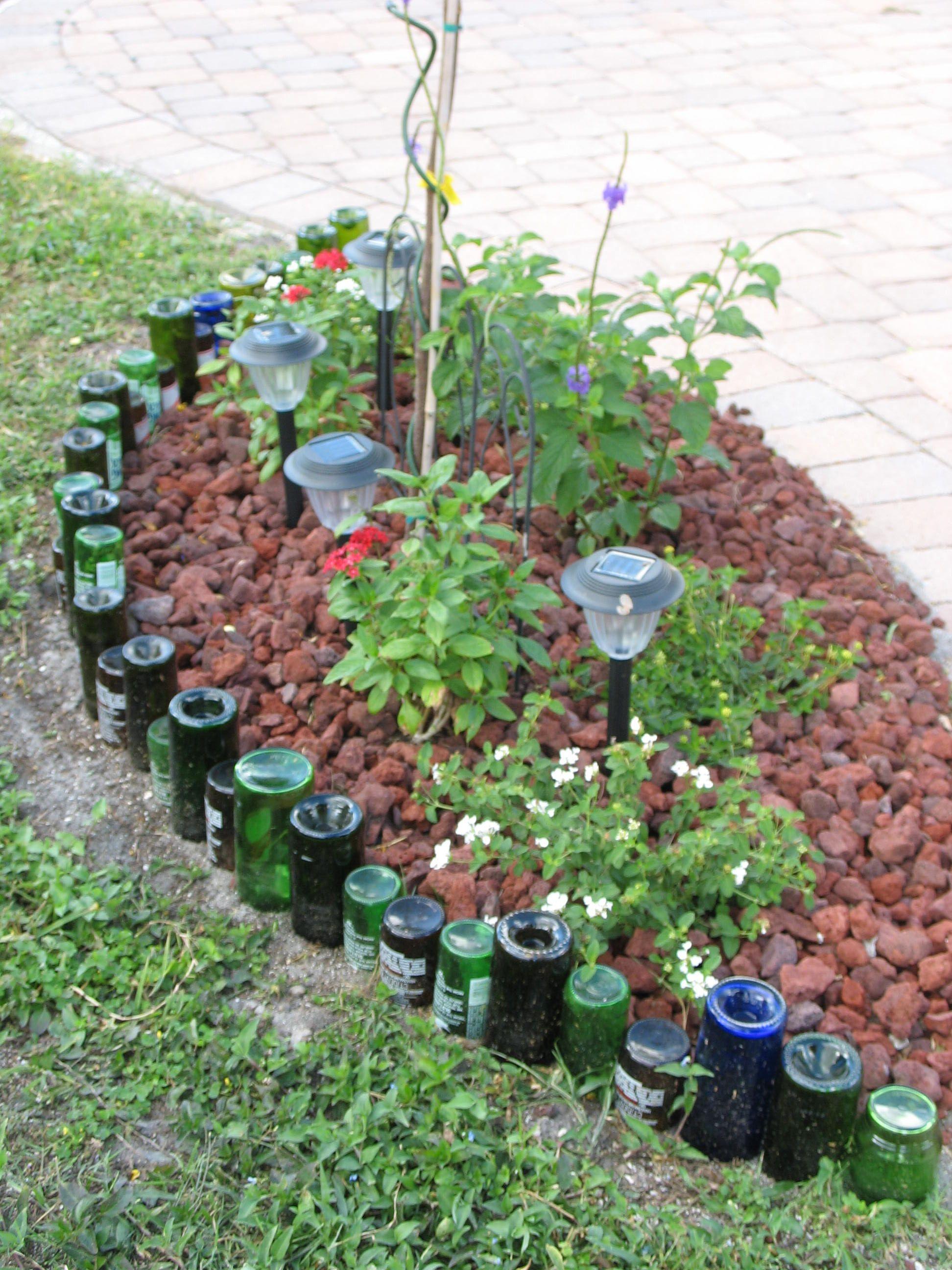 Bottle Border Gardening Ideas Pinterest Gardens Cobalt Blue