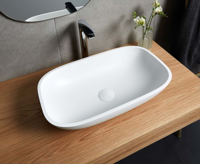 Corian colour Deep Nocturne Application Vanity benchtop and