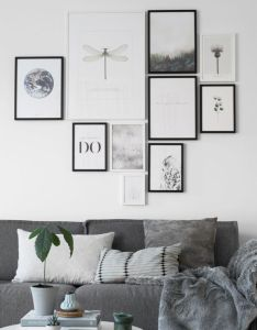 Photo wall living room  fun modern gallery idea are you looking for uniqu home decor also rh pinterest