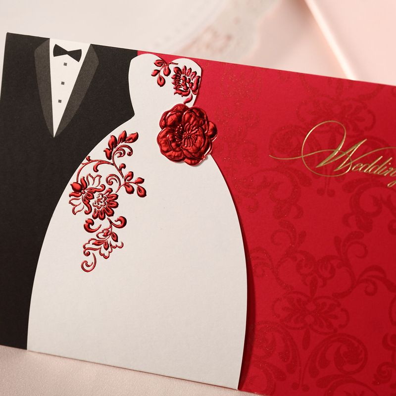Cheap Laser Cut Wedding Invitations