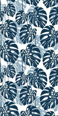 Seamless tropical leaf pattern. Vector illustration ...