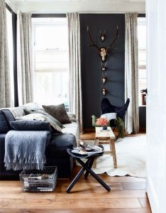 Monochrome living room interior design ideas house decorating before and after also pin by kate johnston on pinterest rooms rh