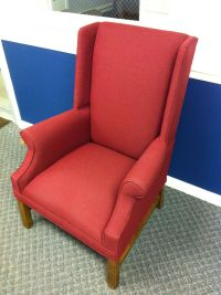 Pulpit Wingback church chair. www.worshipchairs.com
