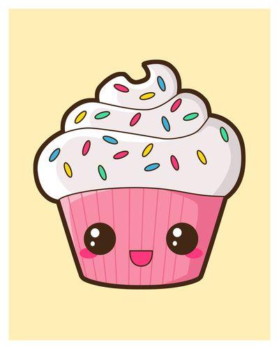 happy cupcake art