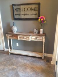 Rustic entryway decor