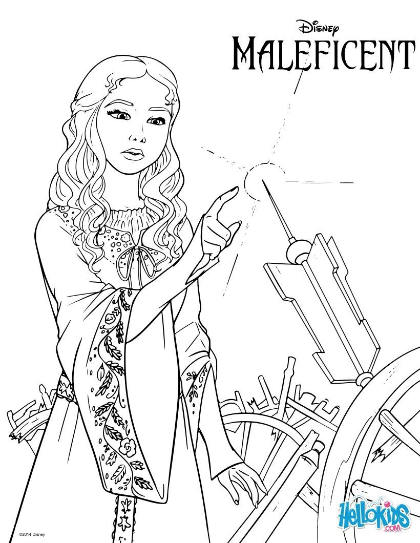 Maleficent coloring page Drawings Coloring Books