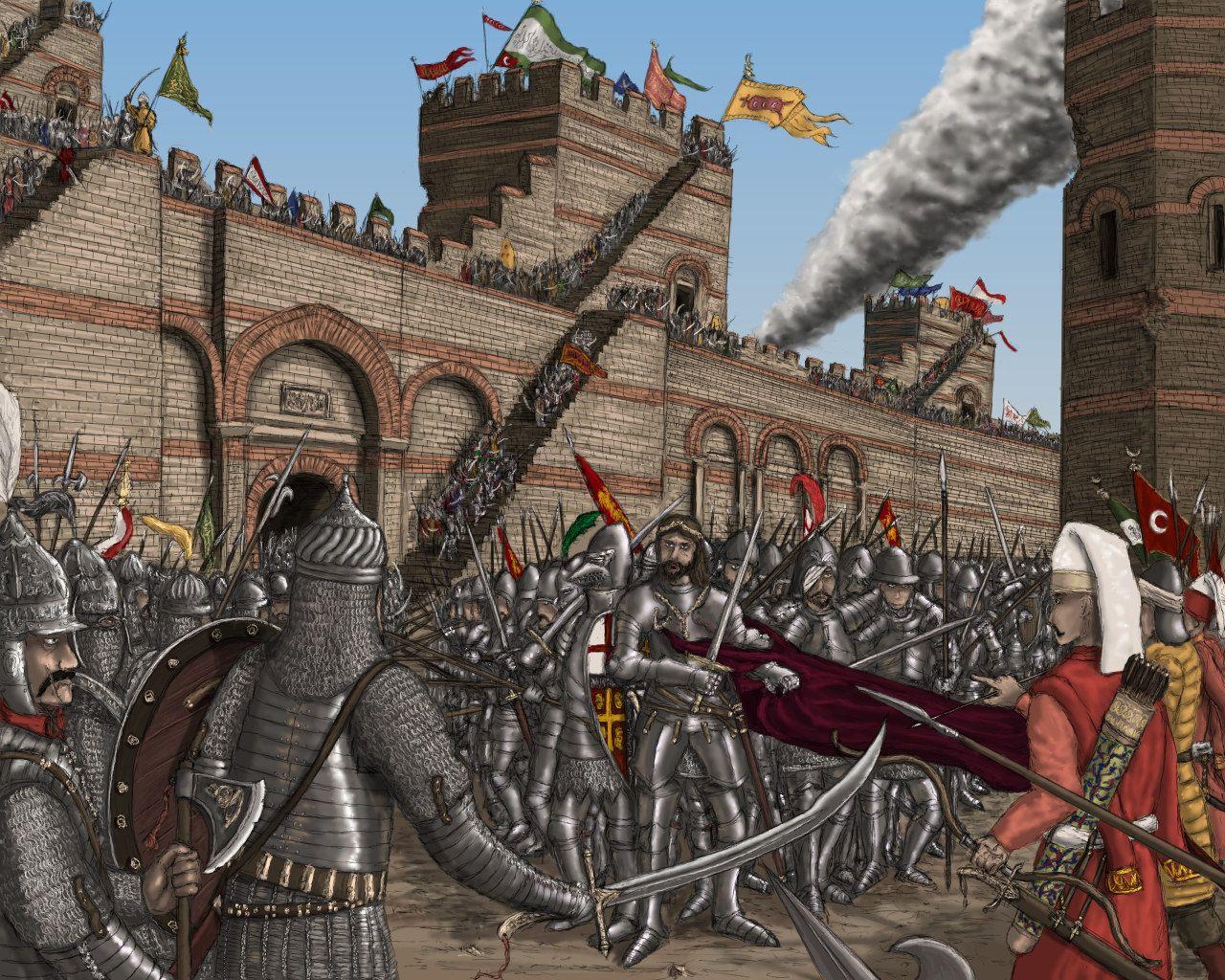 Siege Of Constantinople  Byzantine War Art Pinterest