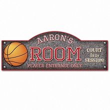 Personalized Basketball Hoops Kid S Room Sign Hit The Blacktop And Score 3 Points With Your