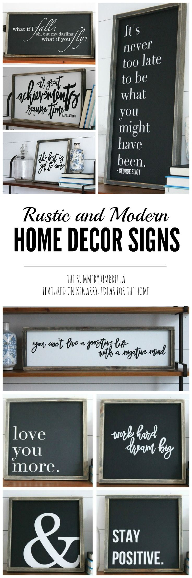 Rustic And Modern Home Decor Signs Giveaway Beautiful Helpful