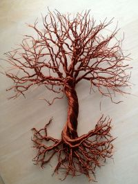 """Small 8"""" copper wire, hanging tree art for sale! $65.00 ..."""