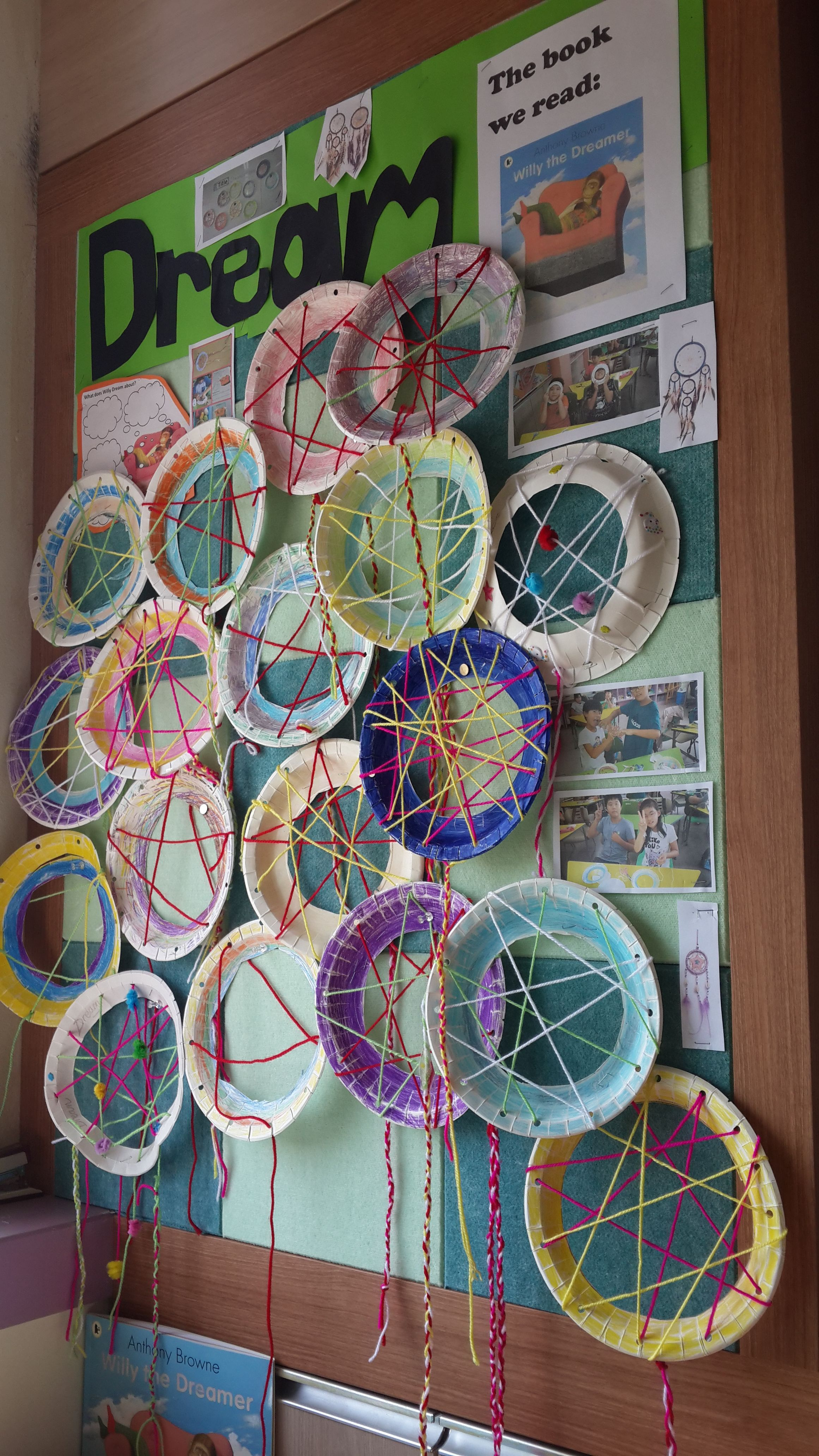 Dream Catcher Display For Our Lesson On Willy The Dreamer