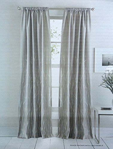DKNY Whitestone Branches Road Pocket Curtains 100 Cotton 50 By 96