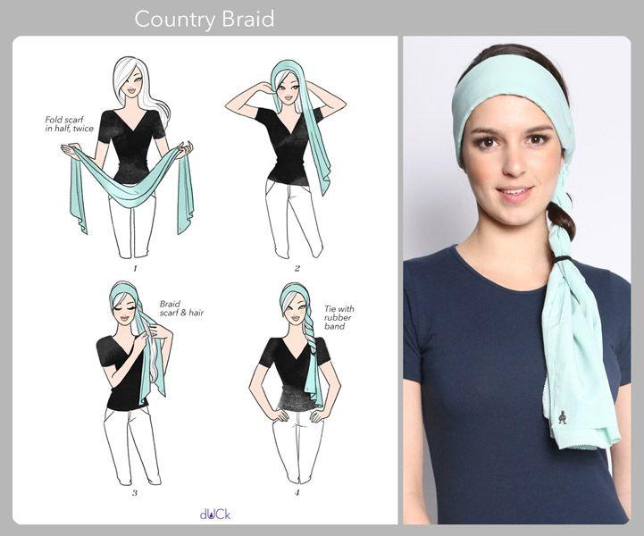 Tutorials   dUCk   Hijab Tutorial   Pinterest   Peinado trenzado. Turbante y Turbantes