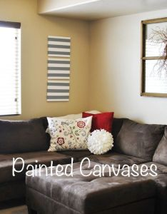 Painted striped canvases perfect idea for your home decor easy craft also rh pinterest