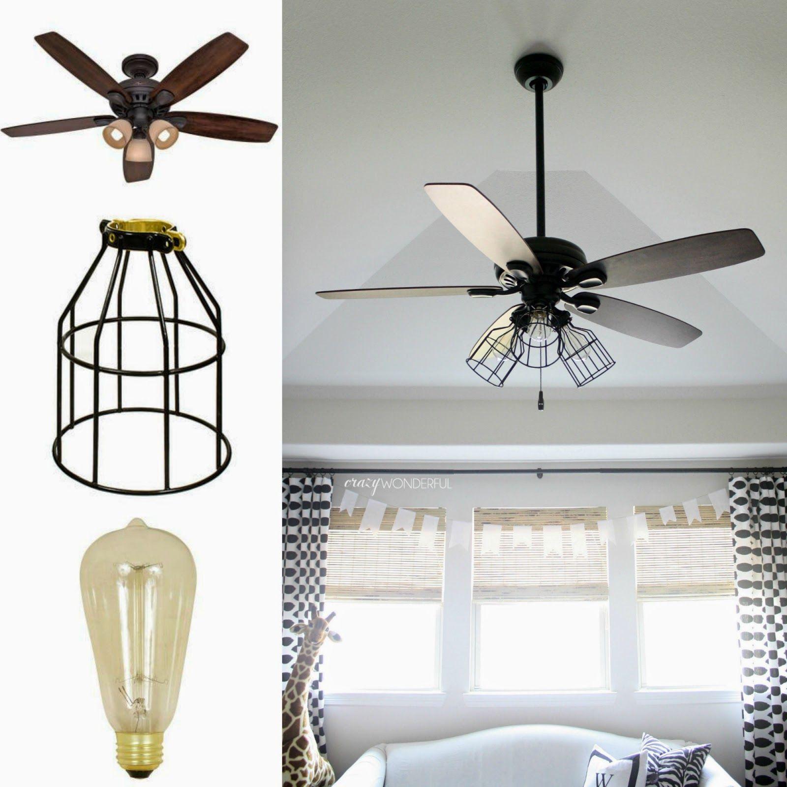 ceiling fans for kitchen designer wall tiles crazy wonderful diy cage light fan