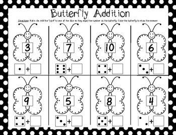 (sample page) Kindergarten End of the Year Math Games