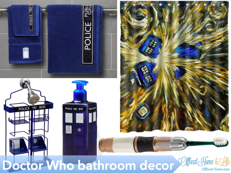 The Coolest Whovian Bathroom Decor In All Of Time And Space