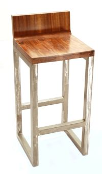 Furniture. Light Brown Wooden Bar Stools With Back On ...