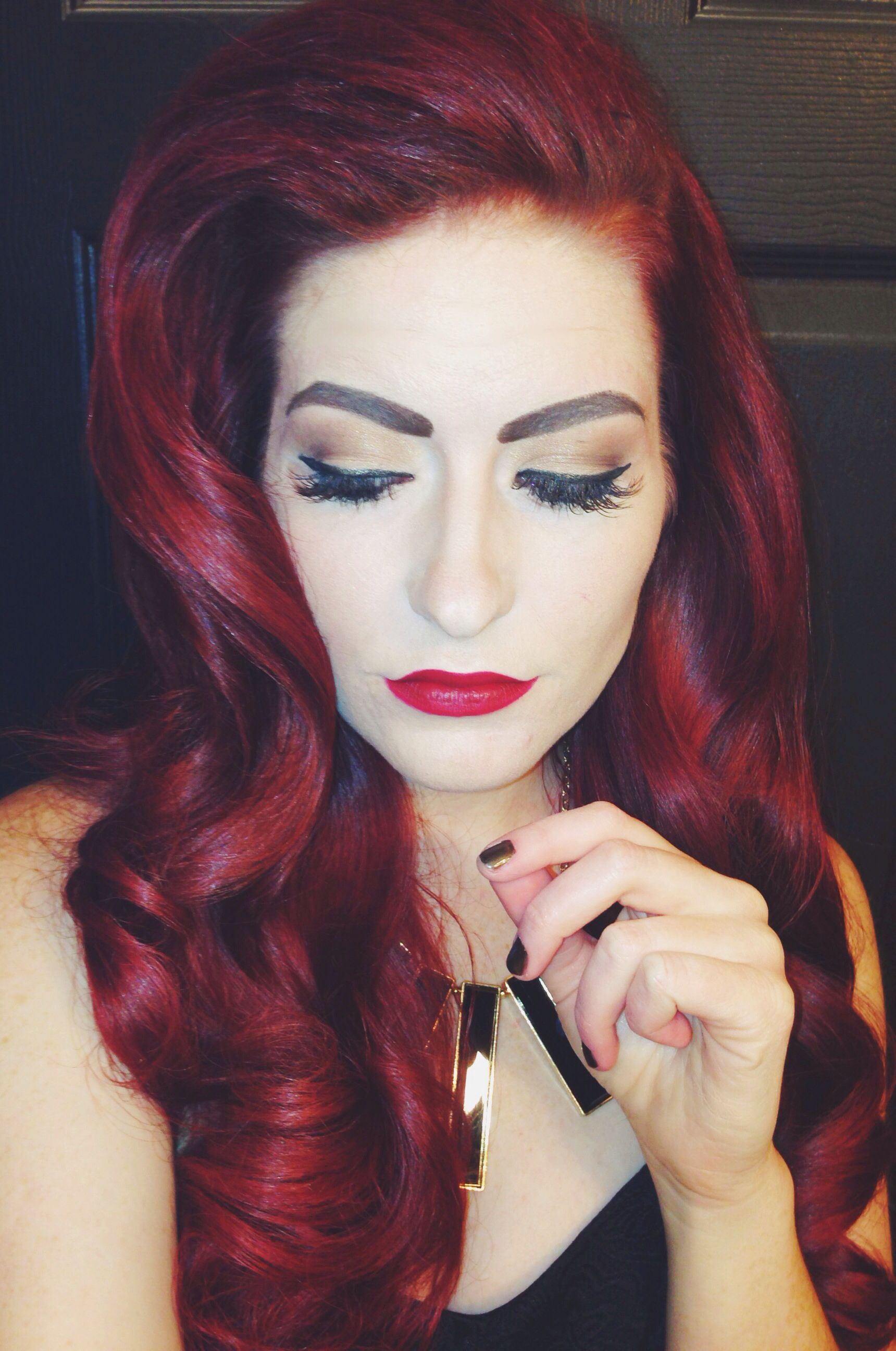 Pin Up Hair Red Hair Long Hairstyles Wedding Formal Prom