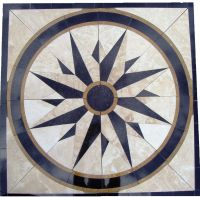 Tile Floor Medallion Marble Mosaic North Star Design 34 ...