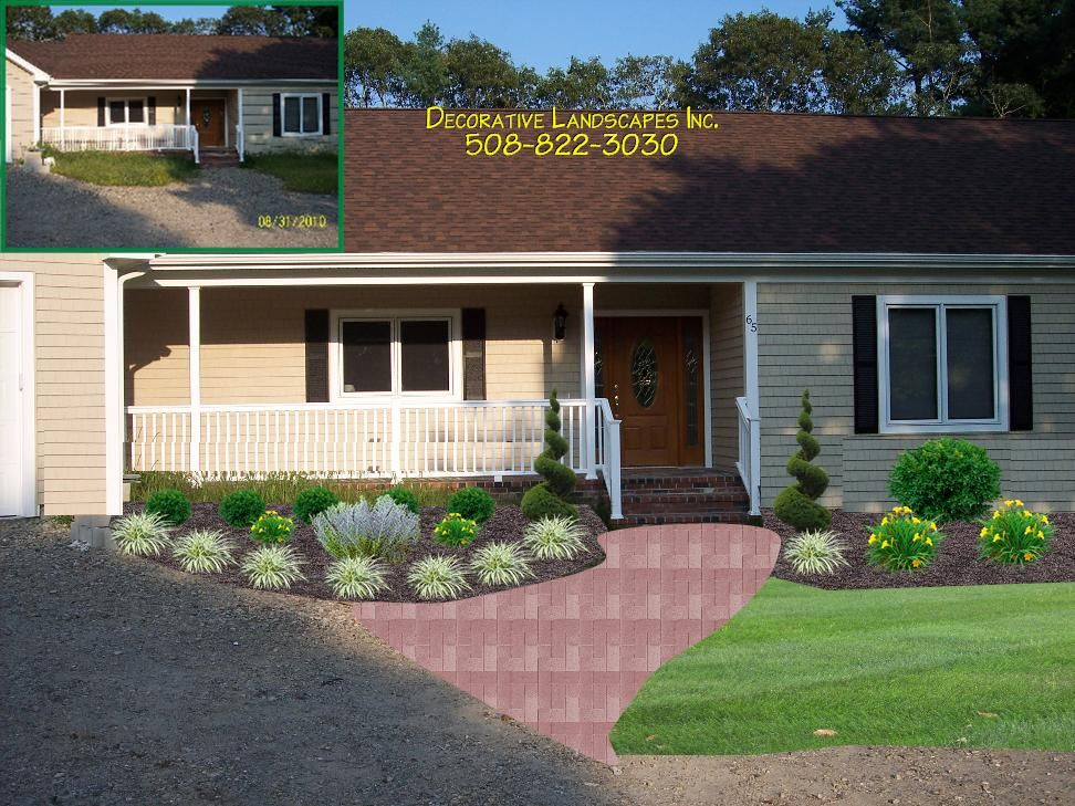Front Yard Landscaping For Ranch Style House Landscaping Home