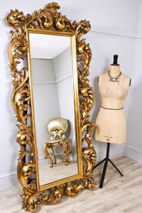 Mirror Large Decorative Mirrors Frame The Bright Gold ...