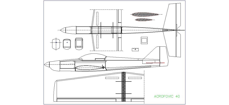 Dwg Adı : Acrofovic 40 model uçak çizimi İndirme Linki
