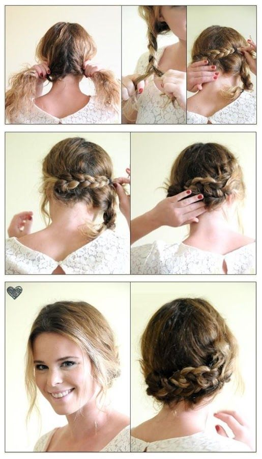 Braided Hair Tutorials For Hot Summer Updo Crown Braids And Search