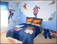 vintage+comic+book+superhero+theme+bedroom