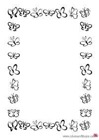 Bordes De Mariposas Para Imprimir | hojas | Pinterest ...