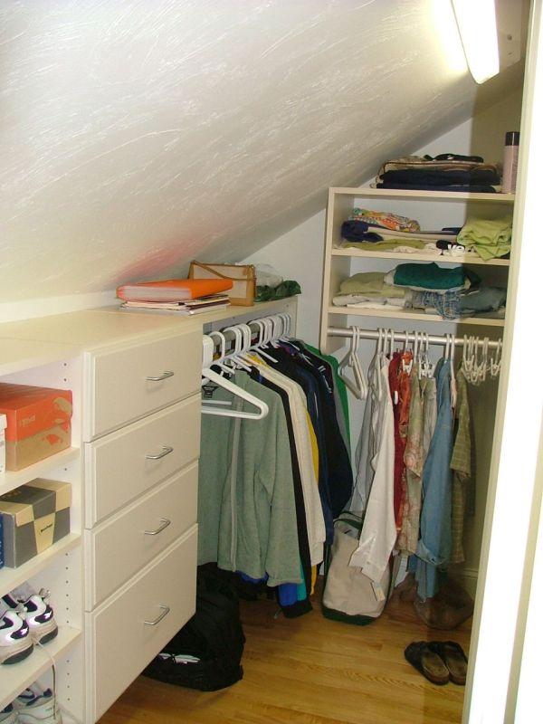 Angled Slanted Sloped Ceiling Closet Ideas