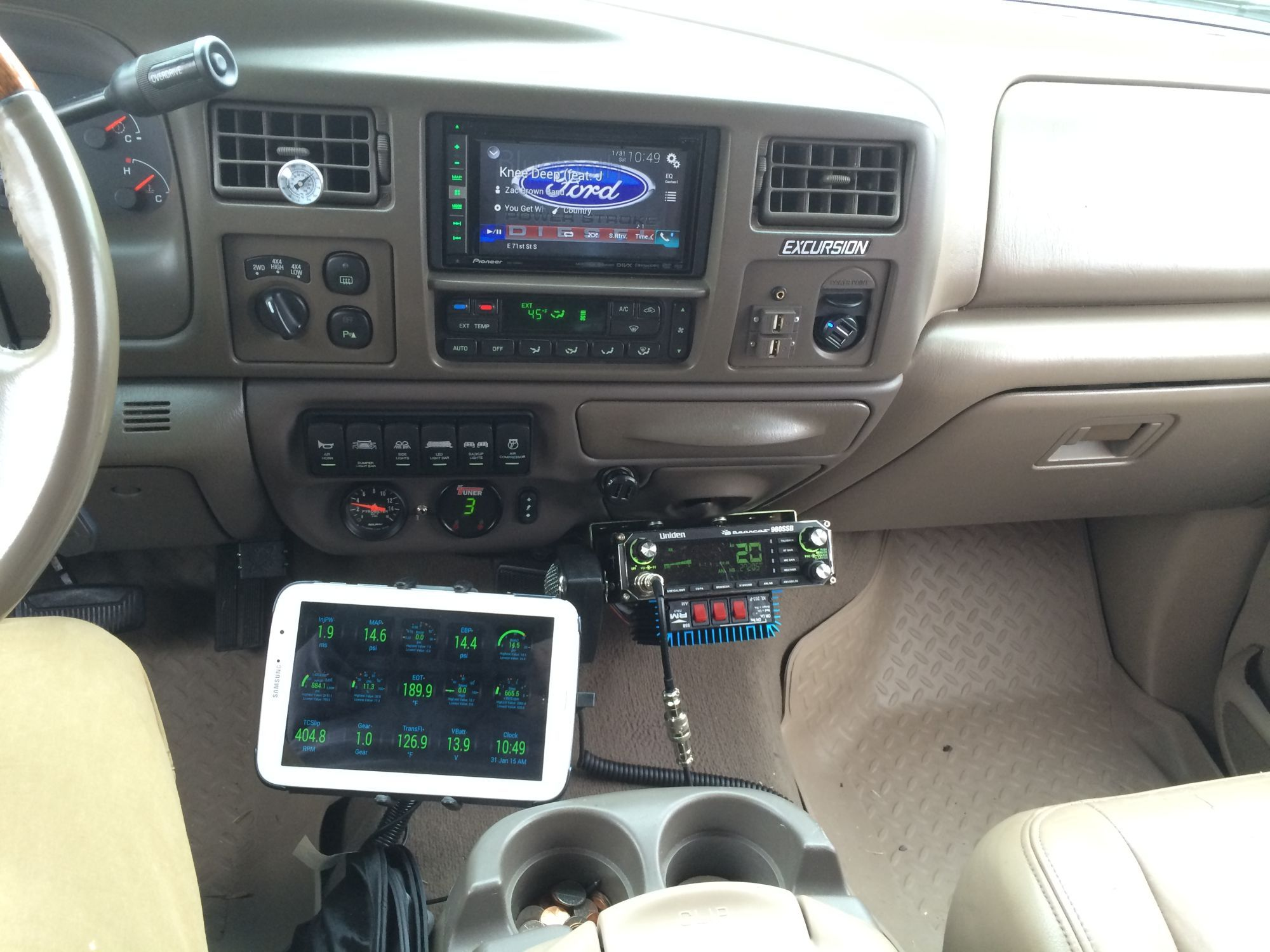 2012 Dodge Auxiliary Switches Wiring Diagram Uniden Cobra Cb Dash Mounted In A Ford Excursion