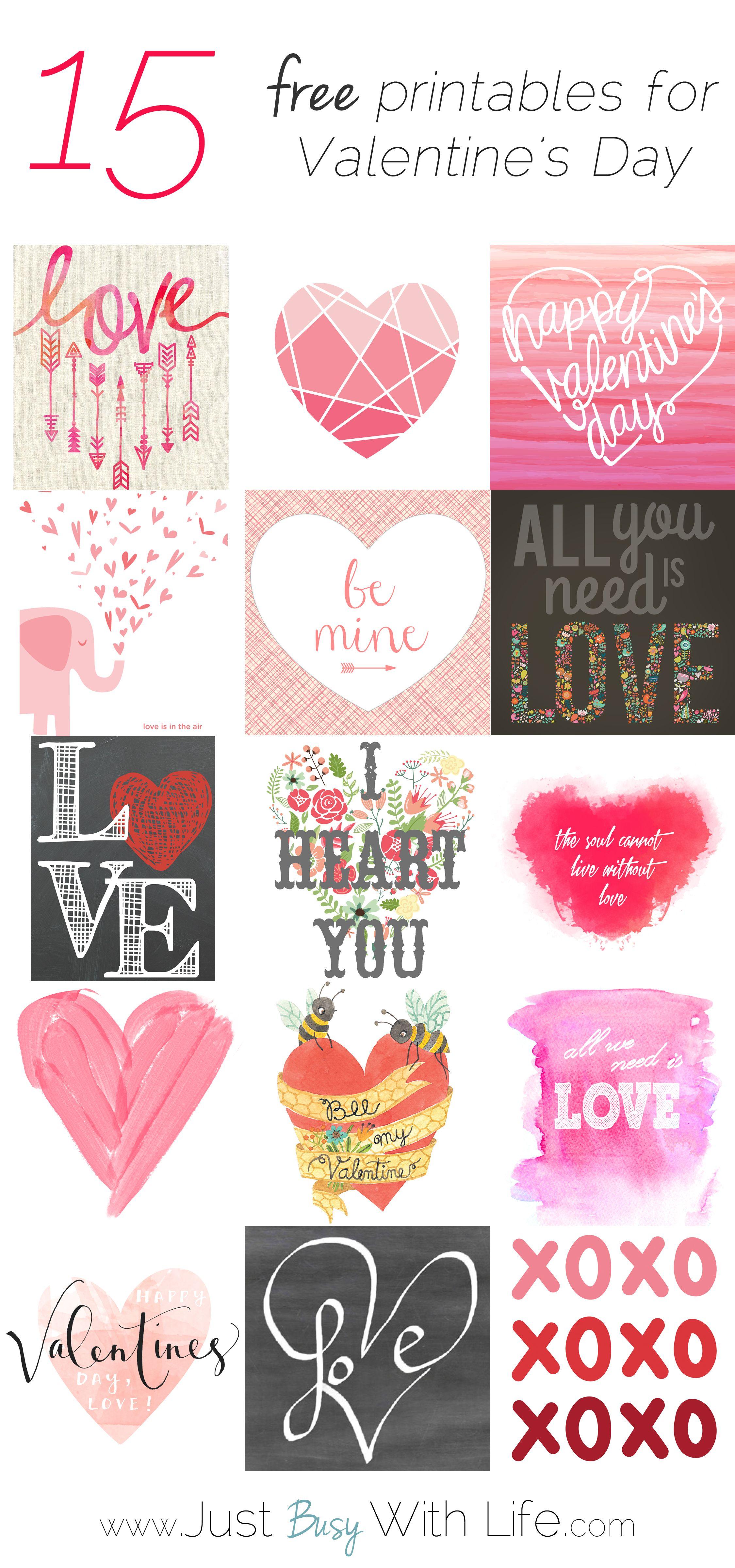 15 Free Valentine S Day Printables