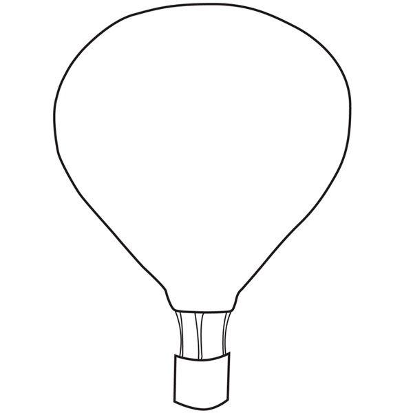 template hot air balloon