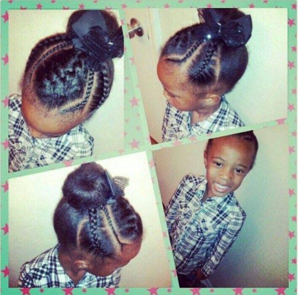 Cute Kiddie Bun Black Hair Information Community Creative