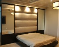 Built as components and installed onsite, this bed ...