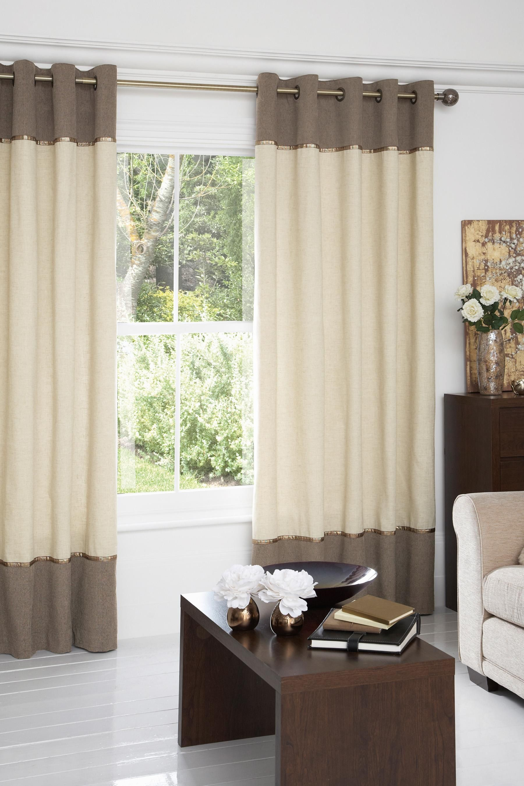 Banded Curtain Curtains Pinterest Curtains