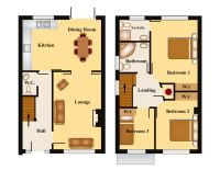 townhouse floor plans | Bedroom Townhouse Floor Plan ...